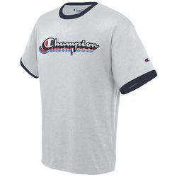 Champion Mens Jersey Ringer Logo Short Sleeve T-Shirt