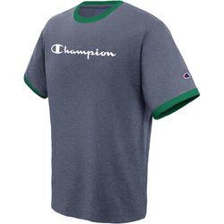 Champion Mens Jersey Ringer Logo T-Shirt