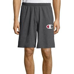 Champion Mens Classic Jersey Big C Logo Heathered Shorts