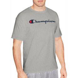 Champion Mens Heathered Logo Jersey Cotton T-Shirt