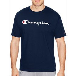 Champion Mens Logo Jersey Cotton T-Shirt