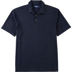 Windham Pointe Mens Palm Leaf Jacquard Polo Shirt