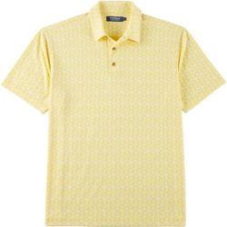 Windham Pointe Mens Palm Leaf Jacquard Polo Shirt
