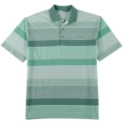 Windham Pointe Mens Striped Pocket Polo Shirt