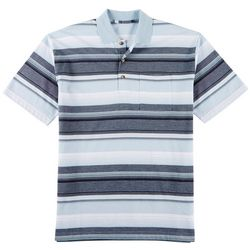 Windham Pointe Mens Striped Polo Shirt