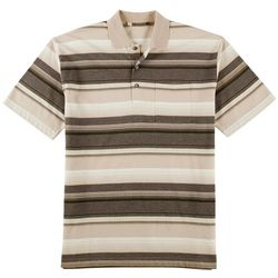 Windham Pointe Mens Neutral Stripe Polo Shirt