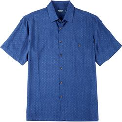 Windham Pointe Mens Tonal Palm Tree Button Down Shirt