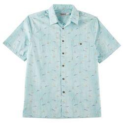 Windham Pointe Mens Fish Print Button Down Shirt
