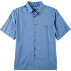 Windham Pointe Mens Mini Diamond Print Button Down Shirt