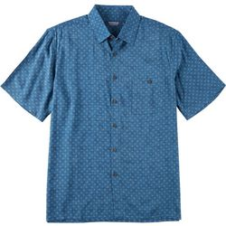 Windham Pointe Mens Star Diamond Print Button Down Shirt