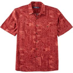 Windham Pointe Mens Island Fish Print Button Down Shirt