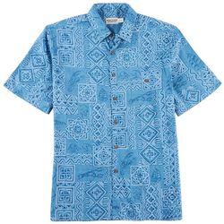 Windham Pointe Mens Batik Print Shirt