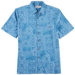 Windham Pointe Mens Batik Print Shirt
