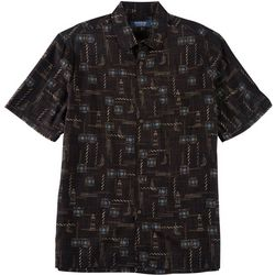 Windham Pointe Mens Lighthouse Print Button Down Shirt