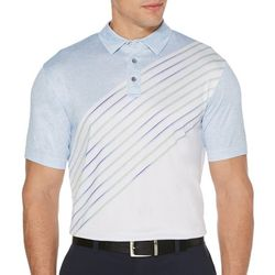 PGA TOUR Mens Asymmetrical Short Sleeve Golf Polo Shirt