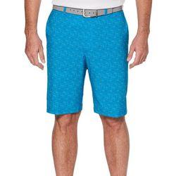 PGA TOUR Mens Hybrid Texture Grid Shorts