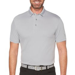 PGA TOUR Mens Airflux Ventilated Solid Polo Shirt