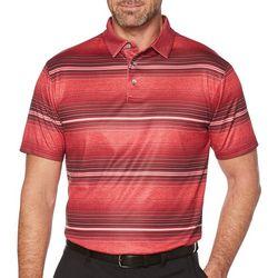 PGA TOUR Mens Airflux Variegated Stripe Polo Shirt