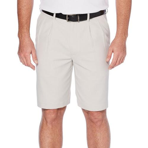 pga tour mens golf double pleated extender solid shorts