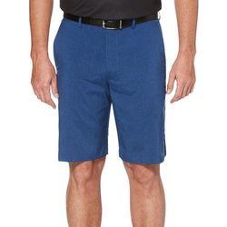 PGA TOUR Mens Heathered Flat Front Shorts