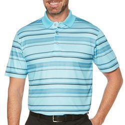 PGA TOUR Mens Energy Airflux Striped Polo Shirt
