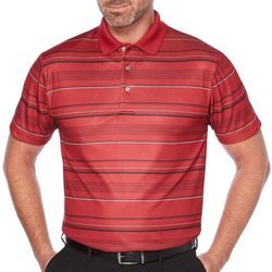 PGA TOUR Mens Energy Airflux Striped Polo Shirt