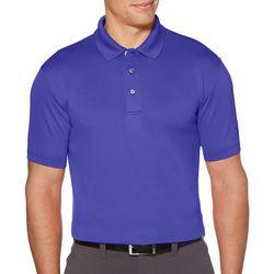 PGA TOUR Mens Airflux Mesh Solid Polo Shirt