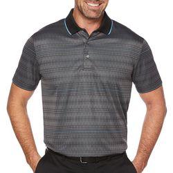 PGA TOUR Mens Modern Argyle Contrast Polo Shirt