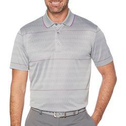 PGA TOUR Mens Modern Argyle Contrast Stripe Polo Shirt