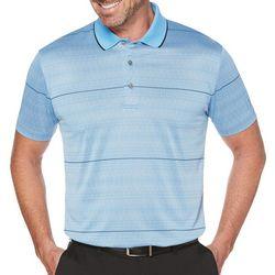 PGA TOUR Mens Modern Argyle Stripe Polo Shirt