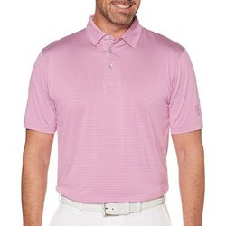 PGA TOUR Mens Feeder Stripe Print Polo Shirt