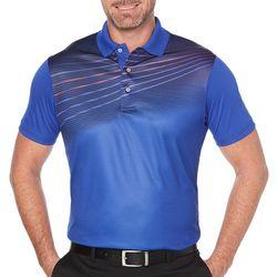 PGA TOUR Mens Gradient Wave Print Polo Shirt
