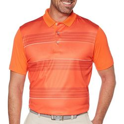 PGA TOUR Mens Gradient Geometric Stripe Print Polo Shirt