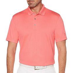 PGA TOUR Mens Solid Golf Polo Shirt