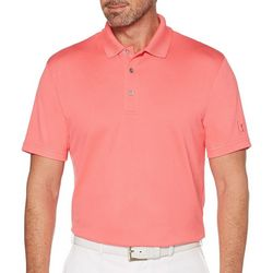 PGA TOUR Mens Solid Golf Polo Shirt