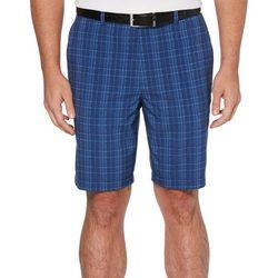 PGA TOUR Mens Plaid Active Waistband Golf Shorts