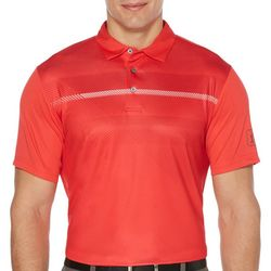 PGA TOUR Mens Heritage Stripe Short Sleeve Golf Polo Shirt