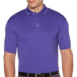 PGA TOUR Mens Big & Tall Airflux Mesh Solid Polo Shirt