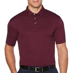 PGA TOUR Mens All Over Jacquard Polo Shirt