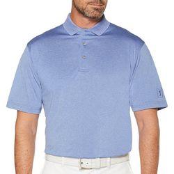 PGA TOUR Mens Big & Tall Heather Polo Shirt