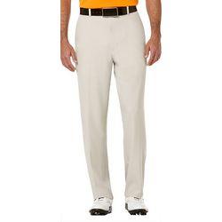 PGA TOUR Mens Extended Comfort Flat Front Pants
