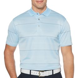 PGA TOUR Mens Digital Stripe Short Sleeve Polo Shirt