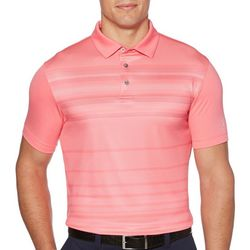 PGA TOUR Mens Herringbone Stripe Short Sleeve Polo Shirt
