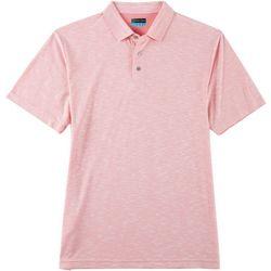 PGA TOUR Mens Heathered Slub Short Sleeve Polo Shirt