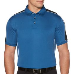 PGA TOUR Mens Solid Shoulder Panel Short Sleeve Polo Shirt