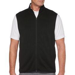PGA TOUR Mens Solid Zip Up Vest
