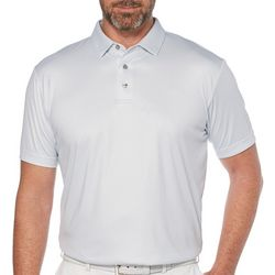 PGA TOUR Mens Gingham Print Short Sleeve Polo