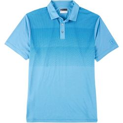 PGA TOUR Mens Stacked Geometric Short Sleeve Polo Shirt