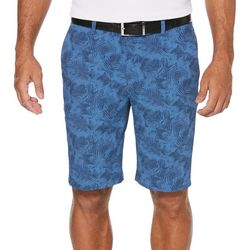 PGA TOUR Mens Tropical Seersucker Flat Front Shorts