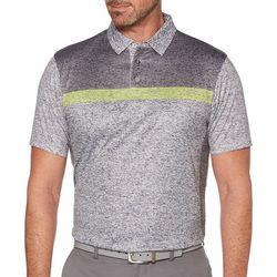 PGA TOUR Mens Body Map Skeletal Stripe Polo Shirt